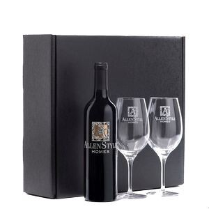 Executive Wine and Stemware Etched Gift Set